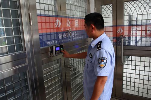 聊城东昌府区公安局凯帕斯门禁系统验收完毕