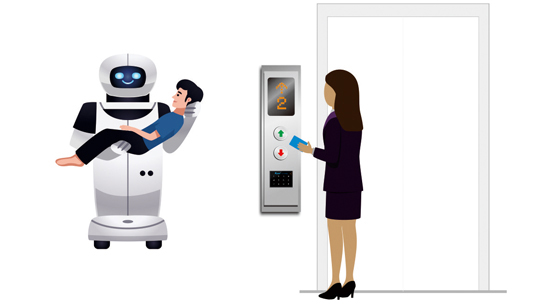 机器人乘梯_梯控管理